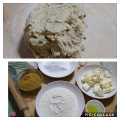 preparazione sablè al pistacchio