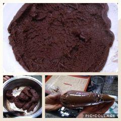 preparazione zeppole al cioccolato