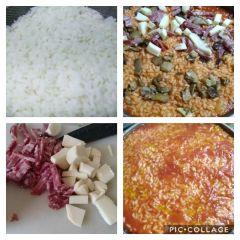 preparazione riso al sugo
