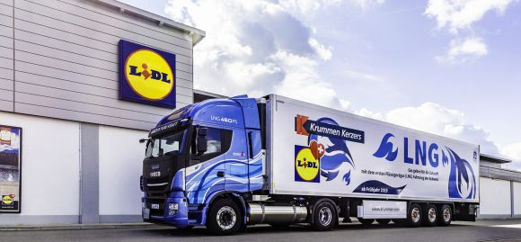 Da ottobre, Lidl distribuirà i suoi prodotti in camion elettrici