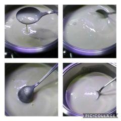 preparazione gelato allo yogurt