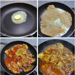 cottura in padella petto di pollo in salsa