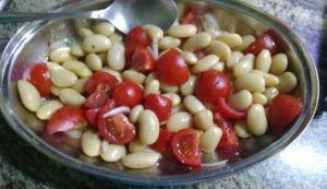 preparazione fagioli in insalata