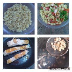 preparazione insalata di pasta