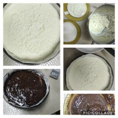 preparazione cheesecake al cocco