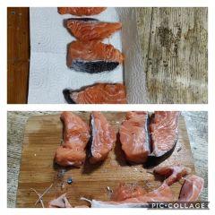 preparazione salmone